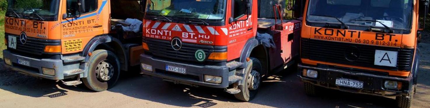 Konténeres sitt szállító, Földmunkák gépekkel - Konti Fuvarozó és Szolgáltató Bt.