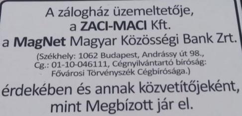 ZACI-MACI Zálogház, Ötvös mester - Fogarasi Kinga